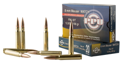 PPU PPM8 Match 8mm Mauser 200 GR Full Metal Jacket 20 Bx/ 10 Cs