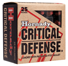 Hornady 90250 Critical Defense 9mm Luger 115 GR Flex Tip Expanding 25 Bx/ 10 Cs