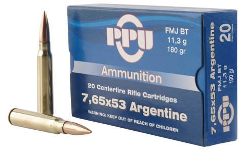 PPU PP68F Metric Rifle 7.65x53mm Argentine 180 GR Soft Point 20 Bx/ 10 Cs