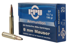 PPU PP8S Metric Rifle 8mm Mauser 196 GR Soft Point 20 Bx/ 10 Cs