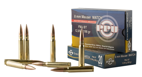 PPU PP8F Metric Rifle 8mm Mauser 198 GR Full Metal Jacket 20 Bx/ 10 Cs