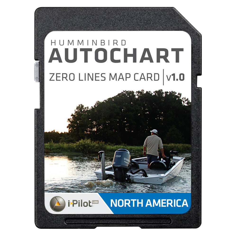 Humminbird AutoChart Zero Lines Map Card