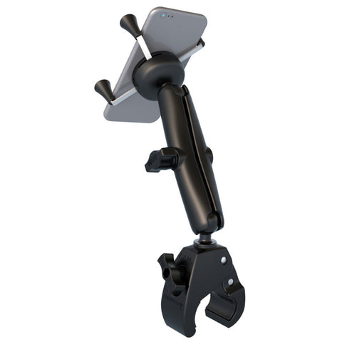 RAM Mount Universal Tough-Claw™ Base w/Long Double Socket Arm & Universal X-Grip® Cell/iPhone Cradle
