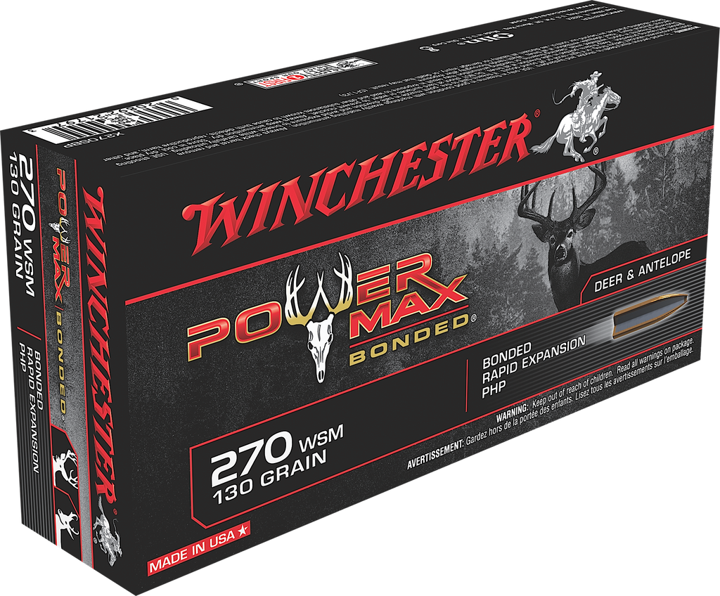 Winchester Ammo X270SBP Super-X 270 Winchester Short Magnum 130 GR Power Max Bonded 20 Bx/ 10 Cs
