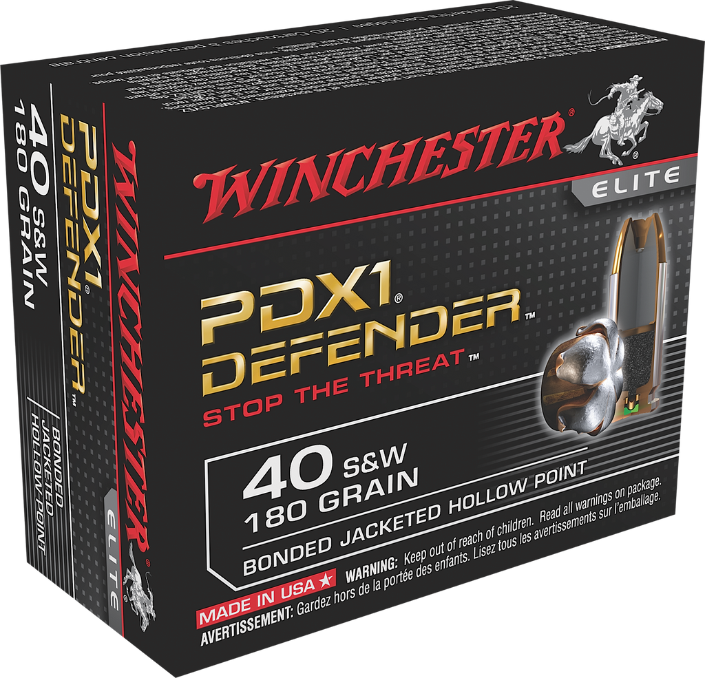 Winchester Ammo S40SWPDB1 Elite 40 Smith & Wesson 180 GR Bonded Jacket Hollow Point 20 Bx/ 10 Cs