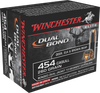 Winchester Ammo S454DB Elite 454 Casull 260 GR Dual Jacket Hollow Point 20 Bx/10 Cs