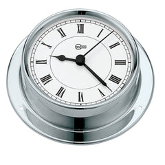 "BARIGO Sky Series Quartz Ship's Clock - Stainless Steel Housing - 3.3"" Dial"