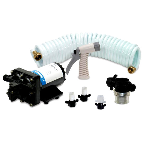 SHURFLO BLASTER™II Washdown Kit - 12VDC, 3.5GPM w/25' Hose, Nozzle, Strainer & Fittings