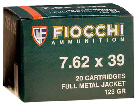 Fiocchi 762SOVA Shooting Dynamics 7.62X39mm 124 GR Full Metal Jacket 20 Bx/ 50 Cs