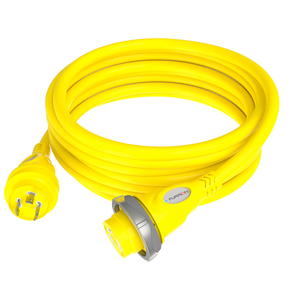 Furrion 30A 125V Marine Cordset 50ft Yellow W/LED