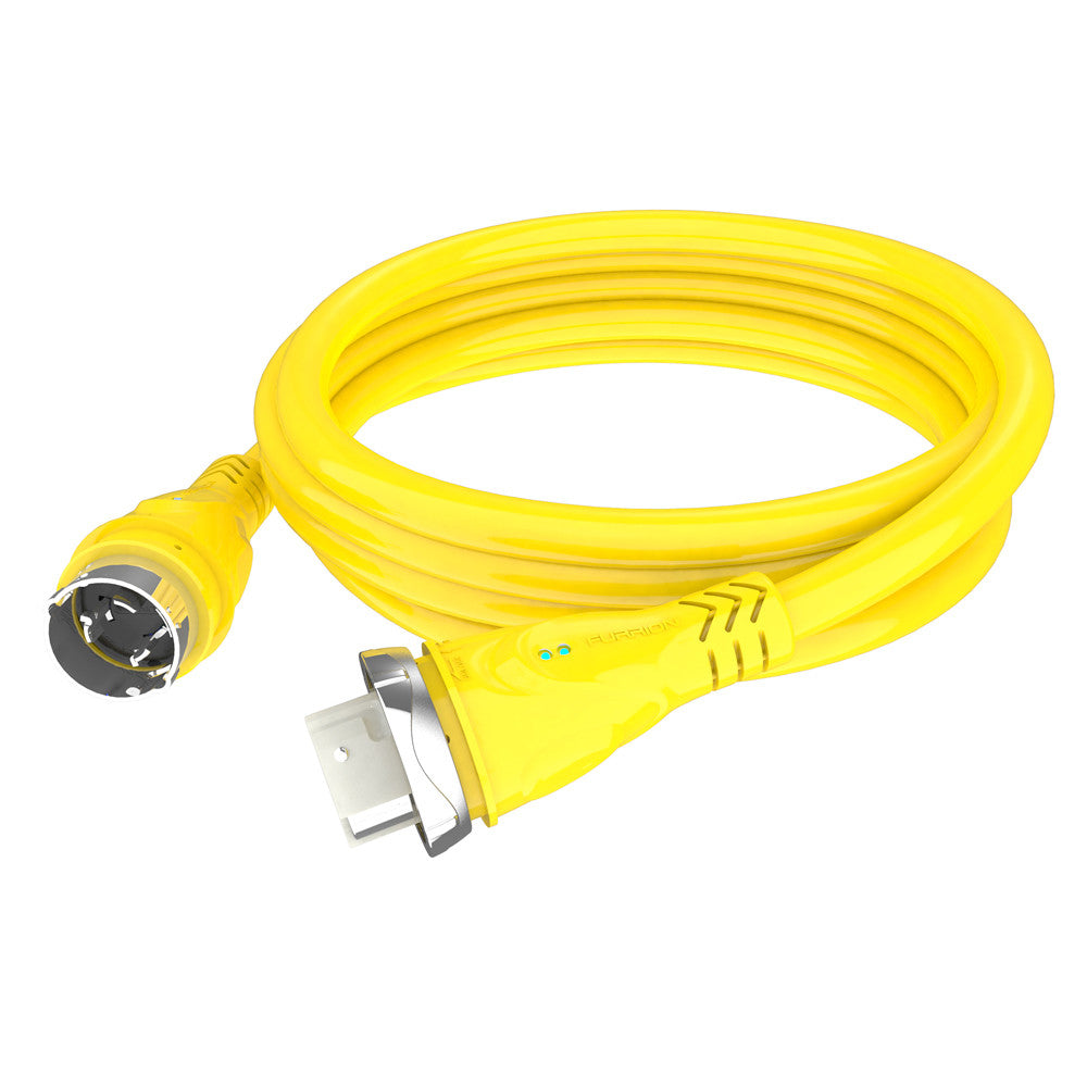 Furrion 50A 125/250V Marine Cordset 25ft Yellow W/LED