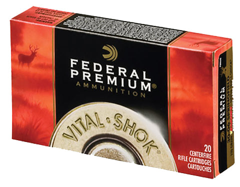 Federal P338B2 Vital-Shok 338 Winchester Mag Nosler Partition 250 GR 20Box/10Cs