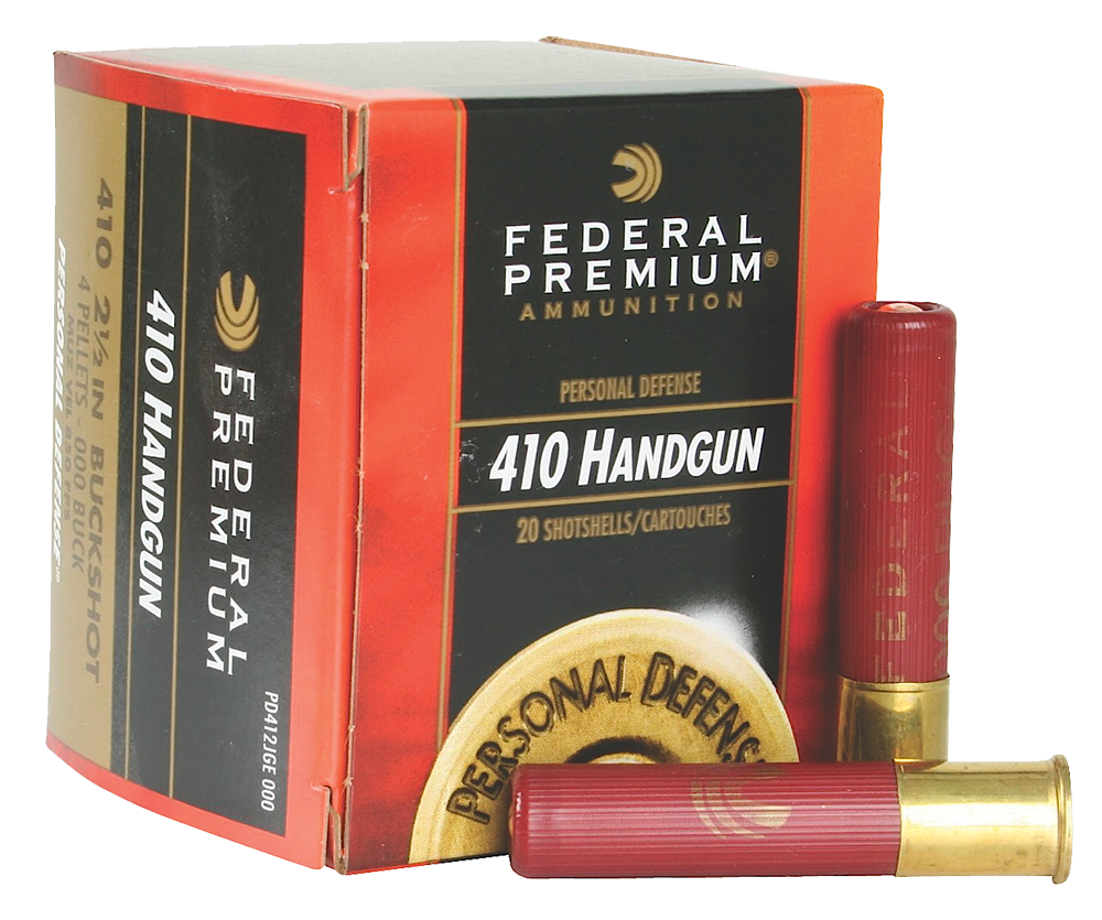 "Federal PD412JGE000 Premium Personal Defense 410 Gauge 2.5"" Buckshot 4 Pellets 000 Buck 20 Bx/ 10 Cs"