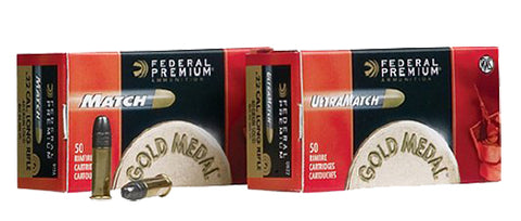 Federal 922A Gold Medal Match 22 Long Rifle (LR) 40 GR Lead Round Nose 50 Bx/ 100 Cs