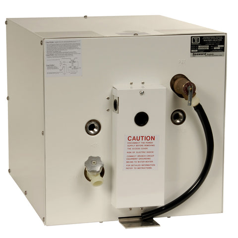 Whale Seaward 11 Gallon Hot Water Heater W/Rear Heat Exchanger White Epoxy