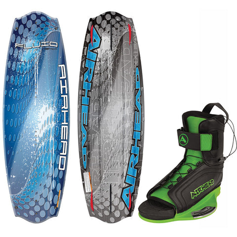 AIRHEAD Fluid Wakeboard - 134cm w/GOBLIN Bindings - Medium