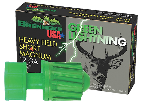 "Brenneke SL122HFSGL Green Lightning 12 Ga 2.75"" 1-1/4oz Slug 5Bx/40Cs"