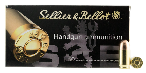 Sellier & Bellot SB45GAP Handgun 45  GAP 230 GR FMJ 50 Bx/ 20 Cs
