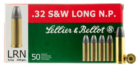 Sellier & Bellot SB32SWLA 32 S&W Lead Round Nose 100 GR 50Box/30Case