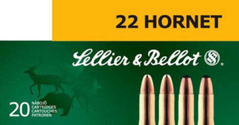 Sellier & Bellot SB22HB 22 Hornet Soft Point 45 GR 20Box/90Case