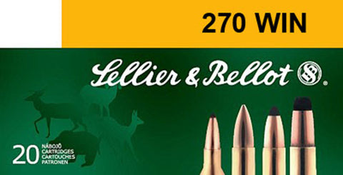 Sellier & Bellot SB270A Rifle 270 Winchester 150 GR Soft Point 20 Bx/ 20 Cs