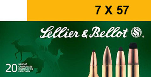 Sellier & Bellot SB757B Rifle 7X57mm Mauser 140 GR Soft Point 20 Bx/ 20 Cs