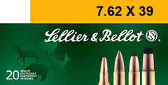 Sellier & Bellot SB76239A Rifle Training 7.62X39mm 124 GR FMJ 20 Bx/ 30 Cs