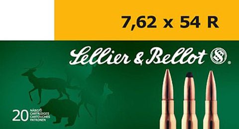 Sellier & Bellot SB76254RB Rifle 7.62X54mm Russian 180 GR Soft Point 20 Bx/ 20 Cs