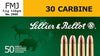 Sellier & Bellot SB30A Rifle Training 30 Carbine 110 GR FMJ 50 Bx/ 20 Cs