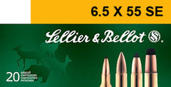 Sellier & Bellot SB6555A Rifle 6.5X55mm Swedish 131 GR Soft Point 20 Bx/ 20 Cs