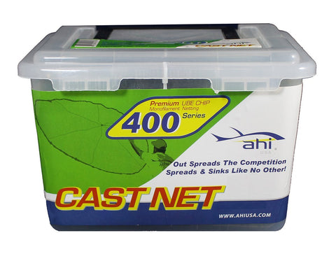 "Ahi 400 Series Cast Net 5 ft - Green Mono Net 5/8"" Mesh"