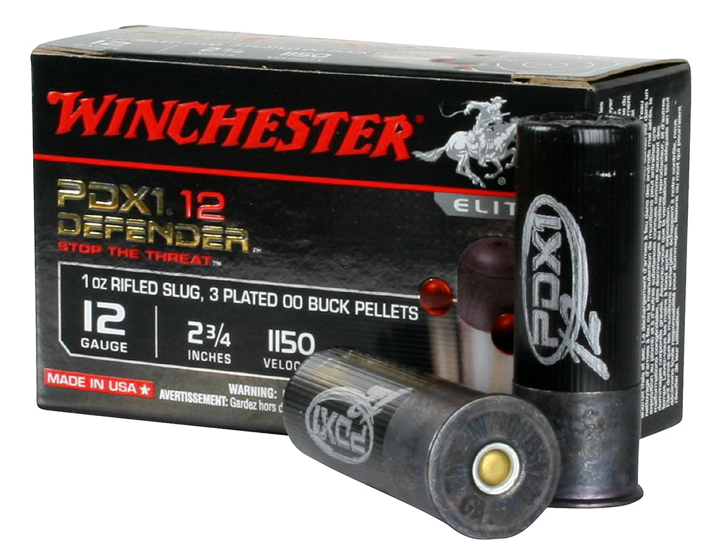 "Winchester Ammo S12PDX1 Elite PDX1 Defender 12 Gauge 2.75"" 1 oz 00 Buck/Rifle Slug Shot 10 Bx/ 10"