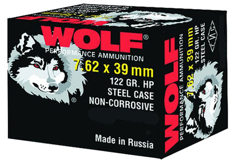 Wolf 762BHP Performance 7.62x39mm Hollow Point 123 GR 1000 Rds - 1000 Rounds
