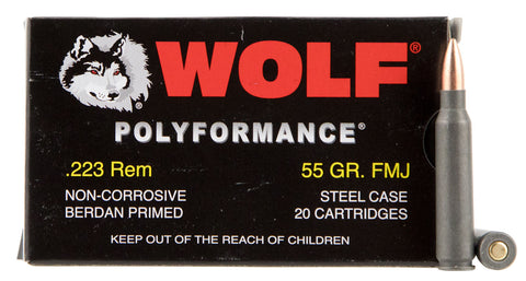 Wolf MC22355HP Hollow Point 223 Remington NATO 55 GR HP 500 Bx/ 1 Cs - 500 Rounds
