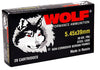 Wolf 545BFMJ Performance 5.45x39mm Bimetal FMJ 60 GR 750 Rds - 750 Rounds