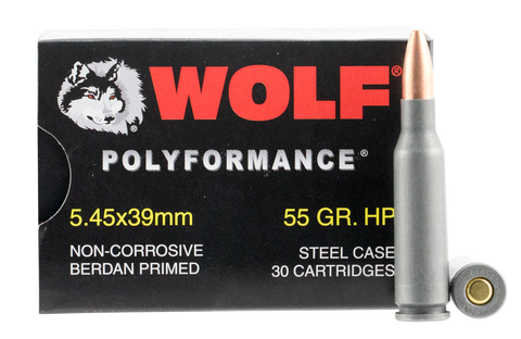 Wolf 545BHP Performance 5.45x39mm Bimetal HP 55 GR 750 Rds - 750 Rounds