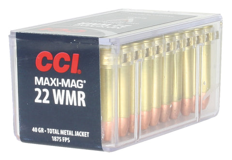 CCI 0023 Select 22 Win Mag Total Metal Jacket 40 GR 50Box/40Case