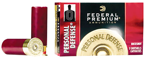 "Federal PD13200 Premium Personal Defense 12 Gauge 2.75"" Buckshot 9 Pellets 00 Buck 5 Bx/ 50 Cs"