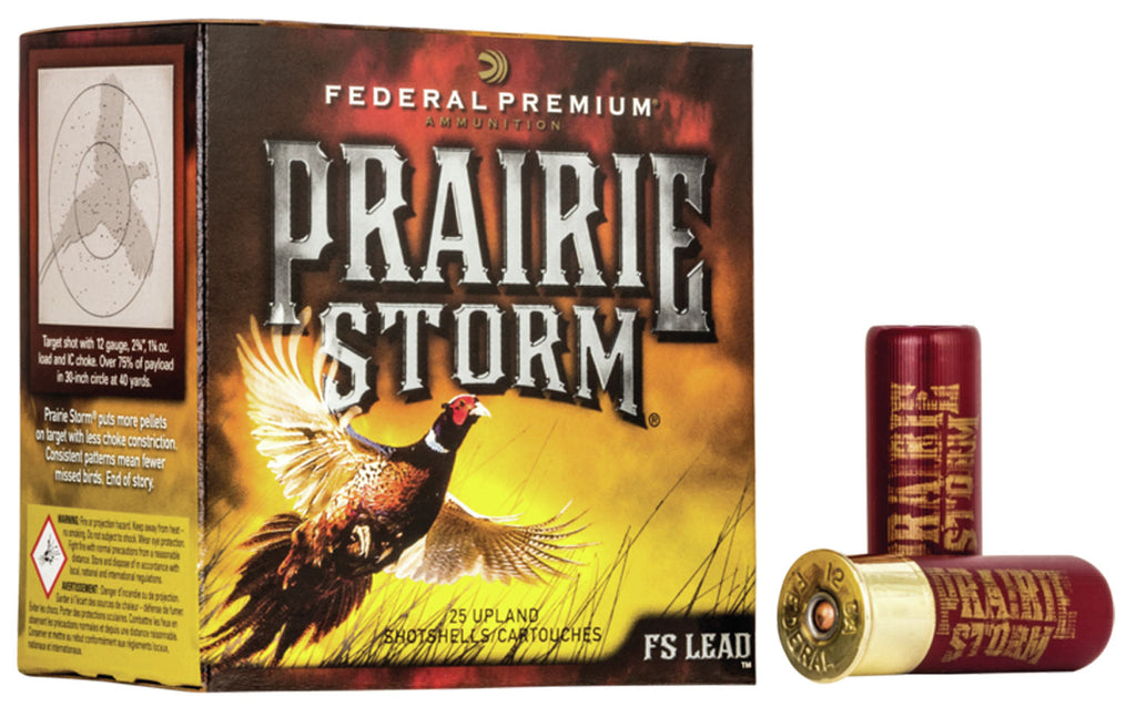 "Federal PF129FS6 Prairie Storm  12 Gauge 3"" 1-5/8 oz 6 Shot 25 Bx/ 10 Cs"