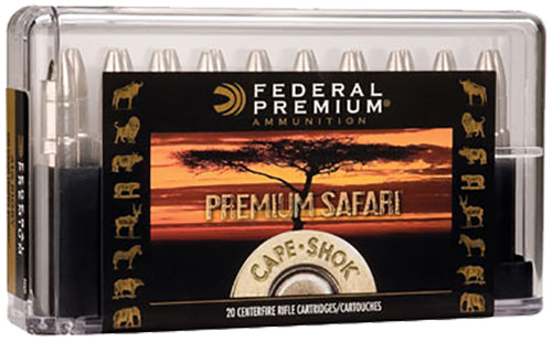 Federal P458LTI Cape-Shok 458 Lott Trophy Bonded Bear Claw 500 GR 20Box/10Case