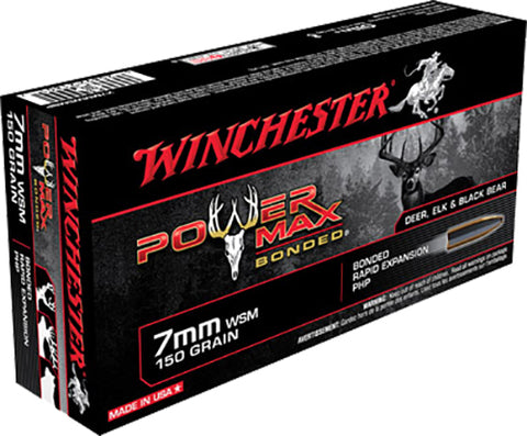 Winchester Ammo X7MMWSMBP Super-X 7mm Winchester Short Magnum 150 GR Power Max Bonded 20 Bx/ 10 Cs