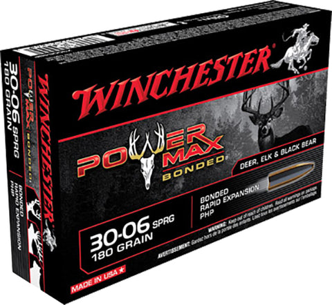 Winchester Ammo X30064BP Super-X 30-06 Springfield 180 GR Power Max Bonded 20 Bx/10 Cs