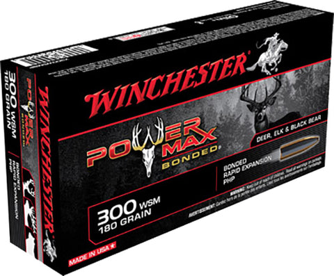 Winchester Ammo X300WSMBP Super-X 300 Winchester Short Magnum 180 GR Power Max Bonded 20 Bx/10 Cs