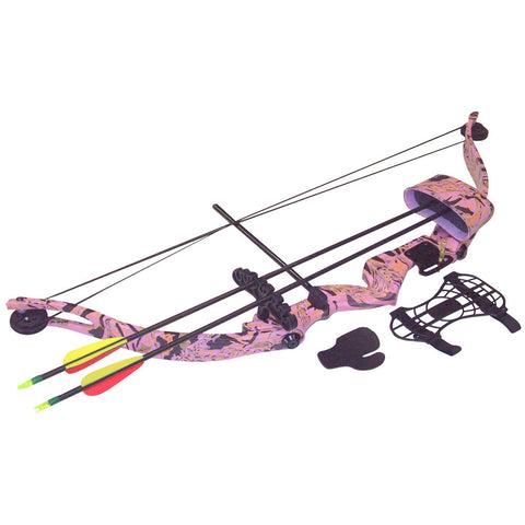 SA Sports Majestic Youth Bow Pkg. Pink Camouflage 20lbs. RH