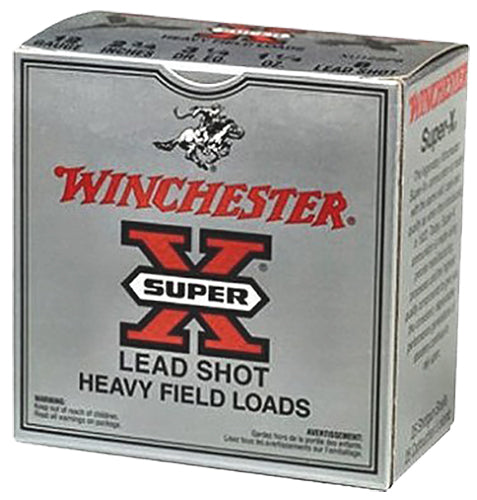 "Winchester Ammo XU12H4 Super-X Game & Field 12 Gauge 2.75"" 1-1/8 oz 4 Shot 25 Bx/ 10 Cs - 250 Rounds"
