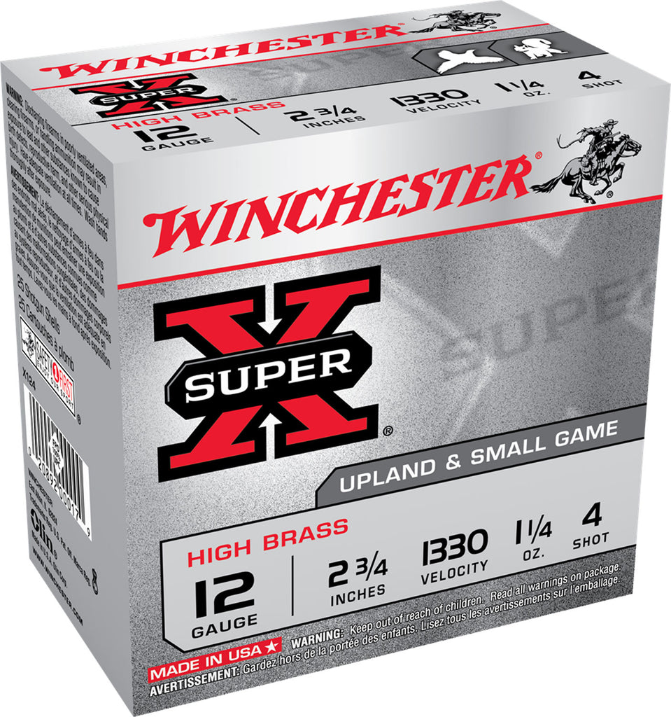 "Winchester Ammo X4136 Super-X High Brass 410 Gauge 3"" 11/16 oz 6 Shot 25 Bx/ 10 Cs"
