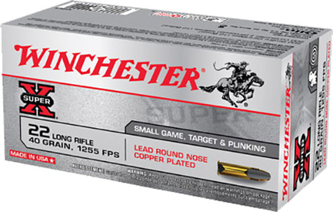 Winchester Ammo X22LR Super-X 22 Long Rifle 40 GR Lead Round Nose 50 Bx/ 100 Cs