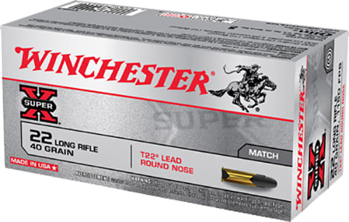 Winchester Ammo XT22LR Super-X 22 Long Rifle 40 GR Lead Round Nose 50 Bx/ 100 Cs