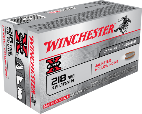 Winchester Ammo X218B Super-X 218 Winchester Bee 46 GR Hollow Point 50 Bx/ 10 Cs