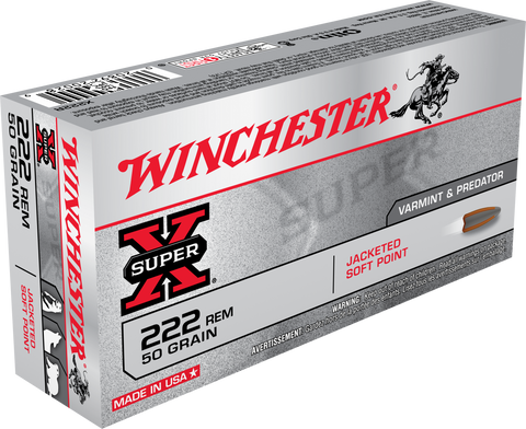 Winchester Ammo X223R Super-X 223 Remington/5.56 NATO 55 GR Pointed Soft Point 20 Bx/ 10 Cs